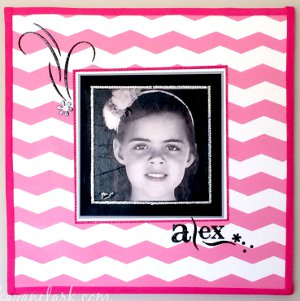 Pretty in Pink Chevron Picture Frame