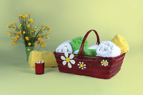 Painted Bathroom Decor Basket