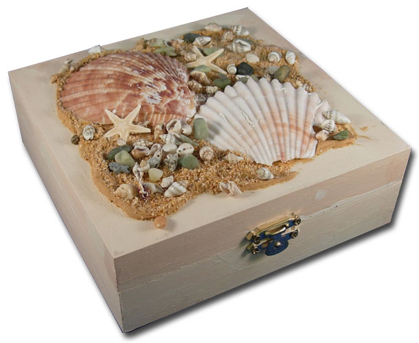 Seashells on Box  sc 1 st  FaveCrafts & Seashell Treasure Box | FaveCrafts.com Aboutintivar.Com