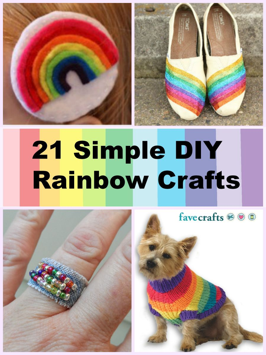 21 Simple DIY Rainbow Crafts