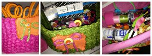 Tie Dyed Storage Baskets