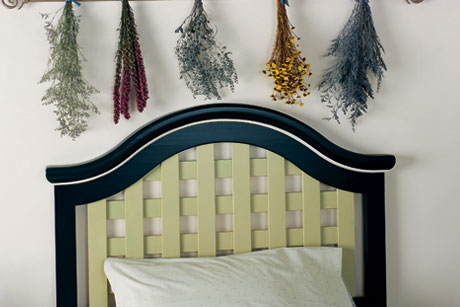 Garden Inspired Painted Bedroom Headboard