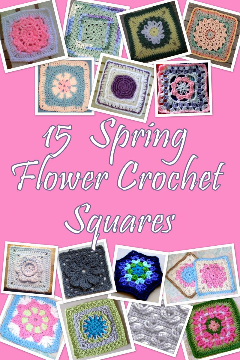15 Spring Pastel Nail Designs: 15 Spring Flower Crochet Squares