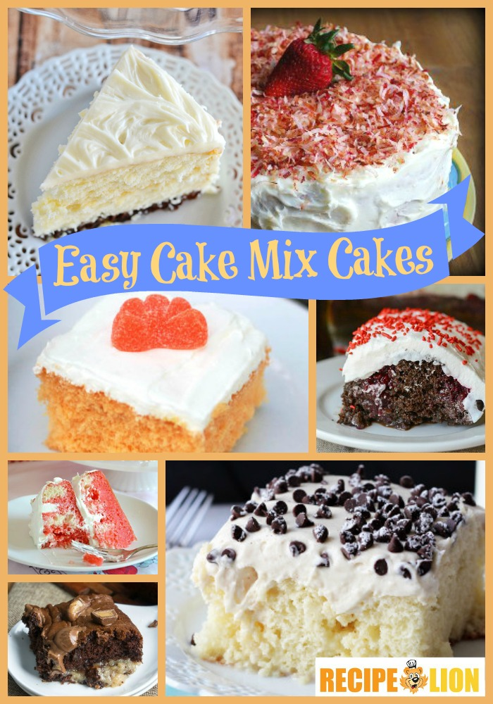 Easy ingredient recipes for cakes