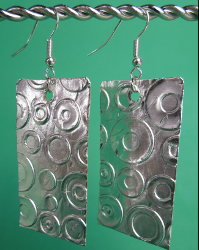 Embossed Foil Earrings Favecrafts Com