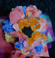 Burst of Color Fabric Flowers