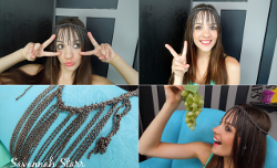 Refashioned Necklace Headpiece