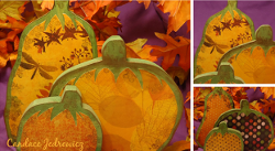 Decoupage Wood Pumpkins