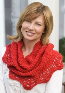 Bright Red Shimmer Cowl