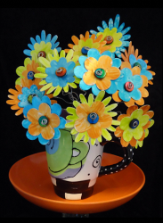 Coffee Cup Flower Bouquet