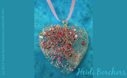 Look of fused glass heart pendant favecrafts look of fused glass heart pendant mozeypictures Images