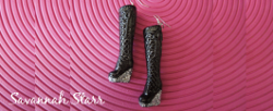 Sparkly Barbie Boot Earrings