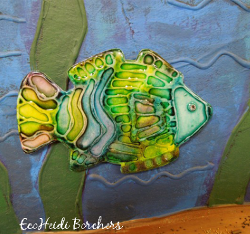 Embossed Look Fish Magnet