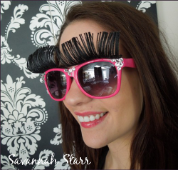 SavvySparkle Eyelash Sunglasses