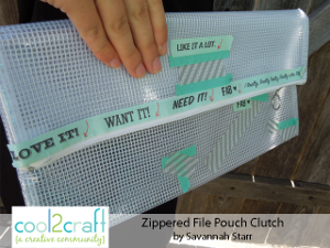 See-Through Zippered Clutch