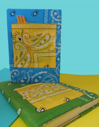Colorful Fabric Book Cover