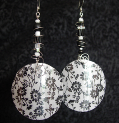 Repurposed Reverse Fabric Earrings