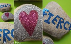 Personalized Glitter Rocks