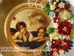 Altered Christmas Charger Plate