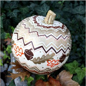 Autumn Painted Pumpkin