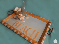 Thrift Store Beach Tray