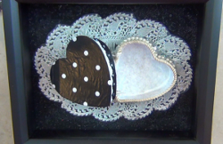 Black and White Trimmed Shadow Box