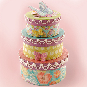Butterfly Birthday Boxes Centerpiece