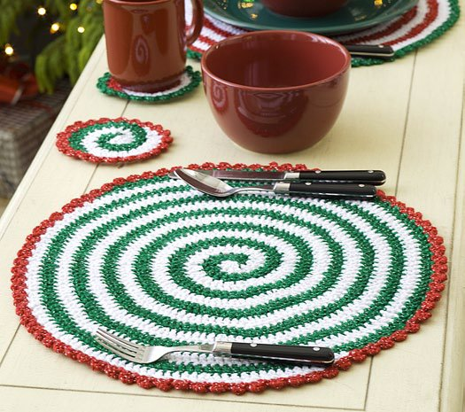 Christmas Pinwheel Placemat And Coasters Favecrafts
