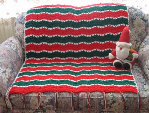Festive Christmas Cross Over Afghan