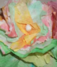 Closeup of Coffee Filter Flower Frame