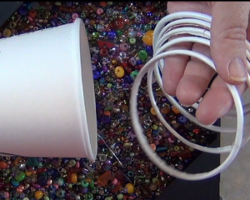 Paper Bracelet from Coffee Cup Rims