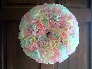 Colorful Coffee Filter Wreath