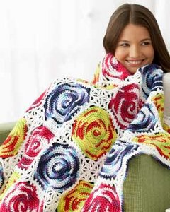 Crochet Circle Throw