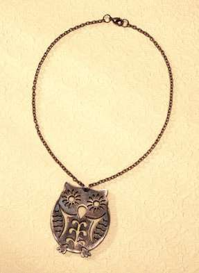 distressed from com wood consumer pendant distressedwoodpendant favecrafts pendants crafts wooden owl necklace
