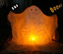 Eco-Friendly Ghost Decoration