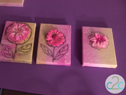 Mini Floral Canvases