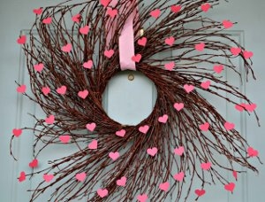 Flowering Hearts Willow Wreath