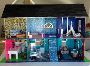 Funky DIY Doll House from Duct Tape