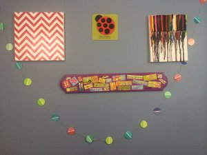 Funky Paint Chip Garland