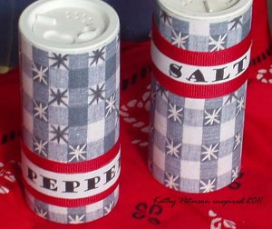 Gingham Salt and Pepper Shakers