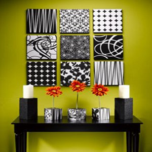 ... Modern Wall Art Are A Few Sheets Of STYROFOAM™ Brand Foam And Your  Favorite Patterned Scrapbook Paper. You Can Mix And Match Whatever Patterns  And Paper ...