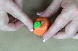 Polymer Clay Pumpkin Photo Holder
