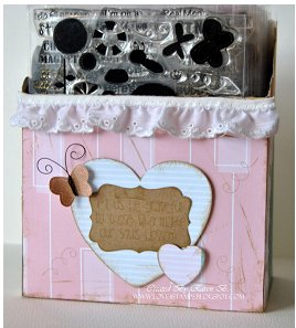 Pretty Butterfly Stamp Storage Box