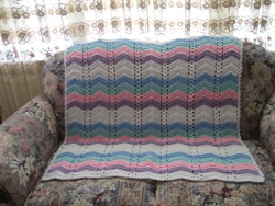 Rainbow Ripple Afghan