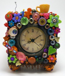Colorful Repuposed Clock