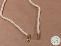 Clothesline Rope Bow Necklace