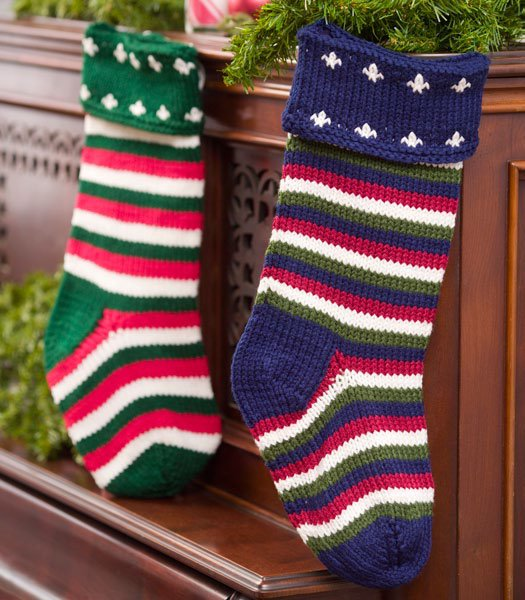 Striped Christmas Stocking