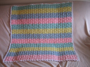 Stripes and Shells Baby Afghan