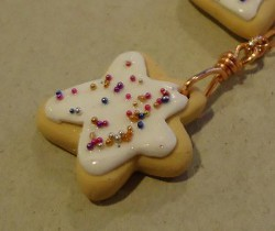 Polymer Clay Cookie Necklace