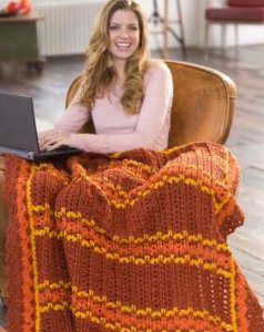 Zig and Zag Crochet Striped Throw